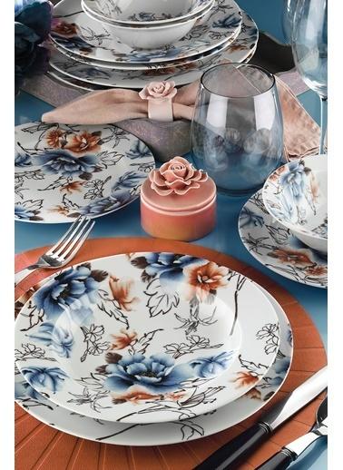 Kütahya Porselen Yasemin  24 Parça Yemek Seti 885185 Renkli